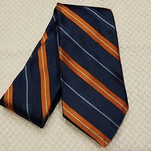 Nordstrom Mens Blue Orange Silk Tie